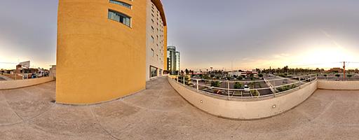Balcón del Hotel Casa Inn. Celaya, Guanajuato, México