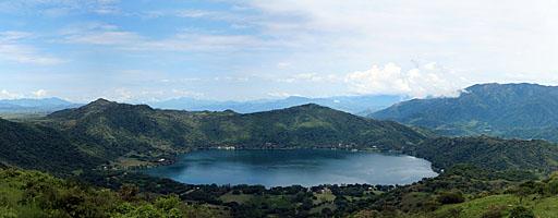 Laguna  Santa María del Oro. Nayarit, México