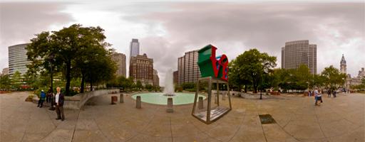 "La famosa escultura ""LOVE"". Philadelphia, EE.UU"