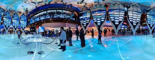 El booth de Samsung en el CES 2010, Las Vegas, USA