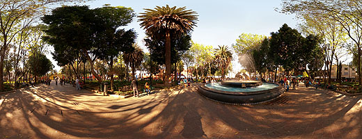 Jardín del Centenario y Arcada Atrial. Coyoacán, Ciudad de México.