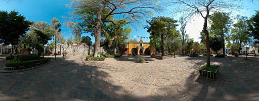 Plaza y Capilla de Santa Catalina de Siena. Coyoacán, México.